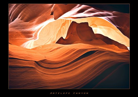 sunset @ antelope canyon