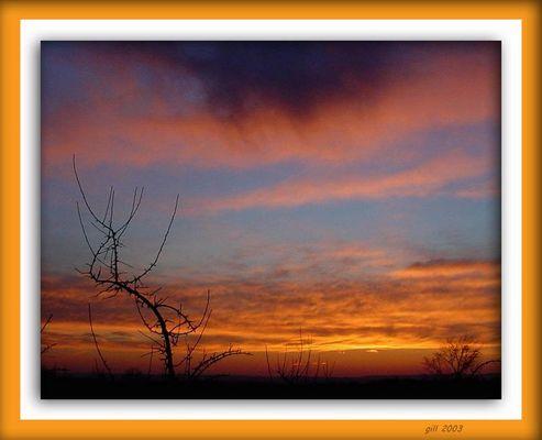Sunset at 45 min North of NY