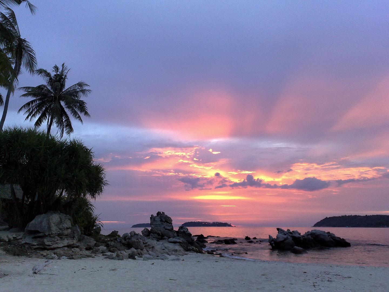 Sunset at Bon Island, Phuket, Thailand