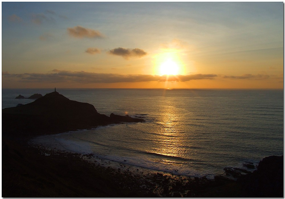 sunset at Cape Cornwall 2