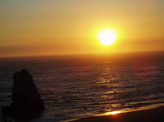 Sunset at Davenport Beach