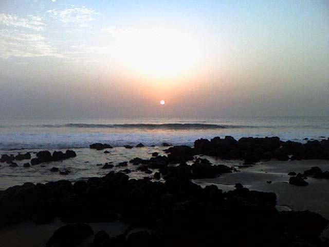 Sunset at Gunjur Beach, The Gambia