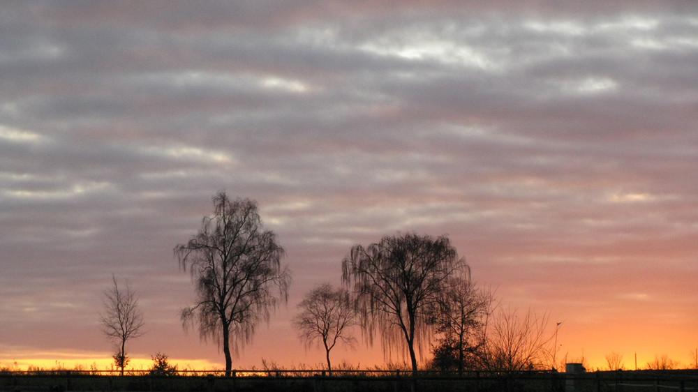 sunset at hand