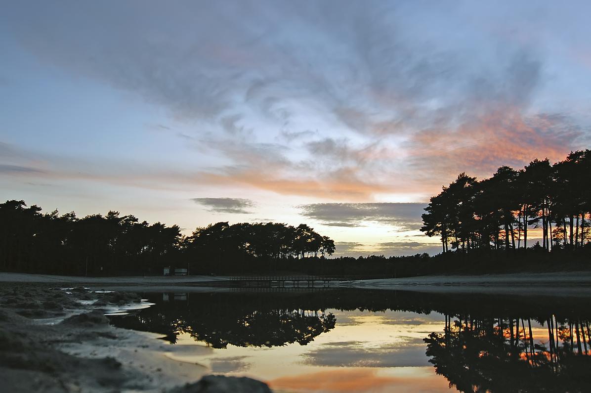 sunset at Henschotermeer
