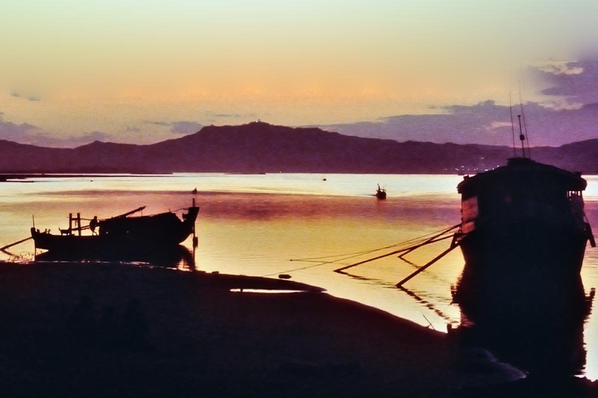 Sunset at Irrawaddy