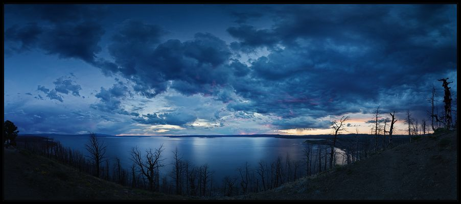 Sunset at Lake Butte Overlook