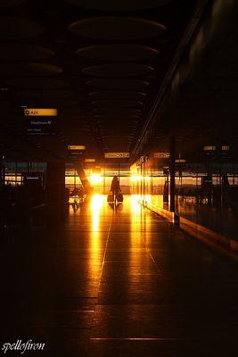 Sunset at London Heathrow Airport