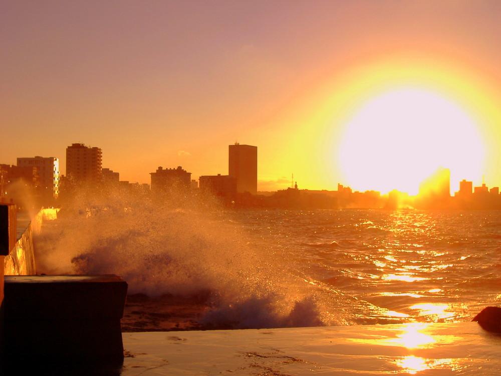 Sunset at Malecon