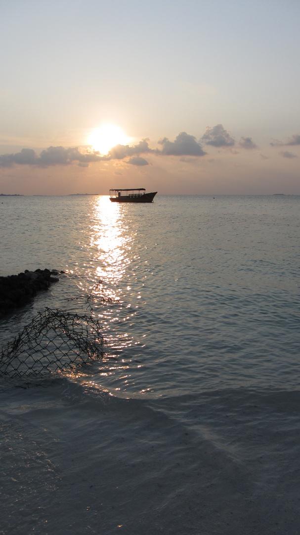 sunset at Maledives