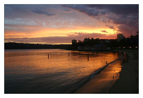 Sunset at Manly Wharf