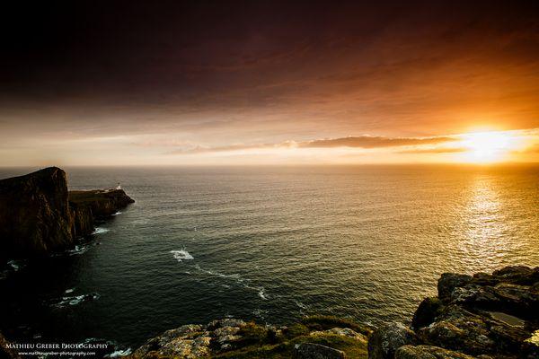 Sunset at Neist Point Lighthouse