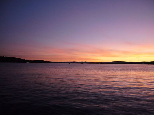 sunset at Oslo harbor