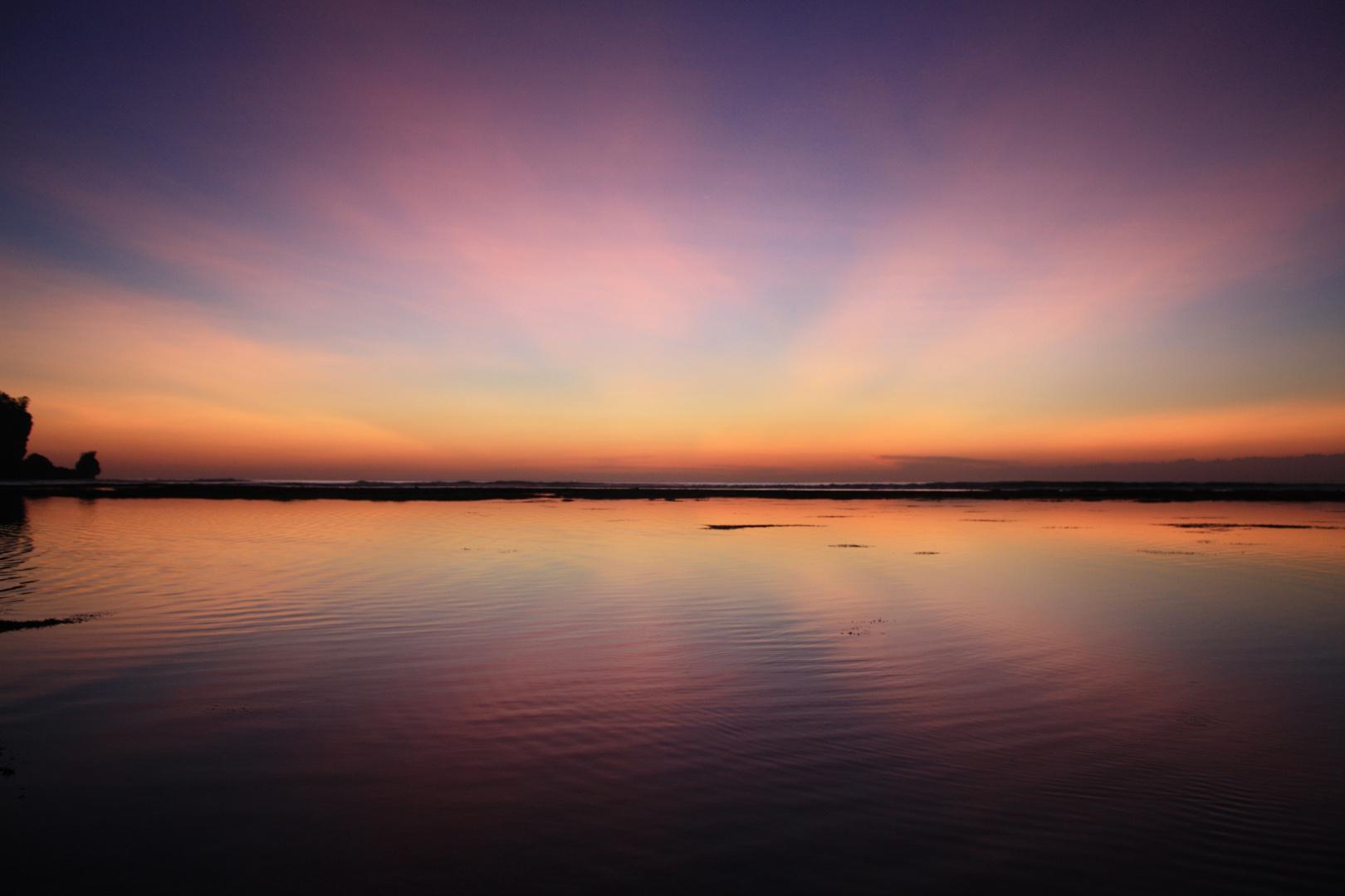 Sunset at Padang Padang Beach, Bali