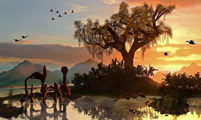 Sunset at Paradise island 1