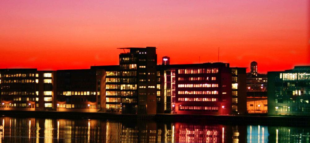 Sunset at the Copenhagen habor