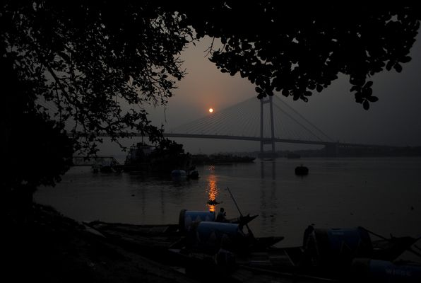 Sunset at the Ganges