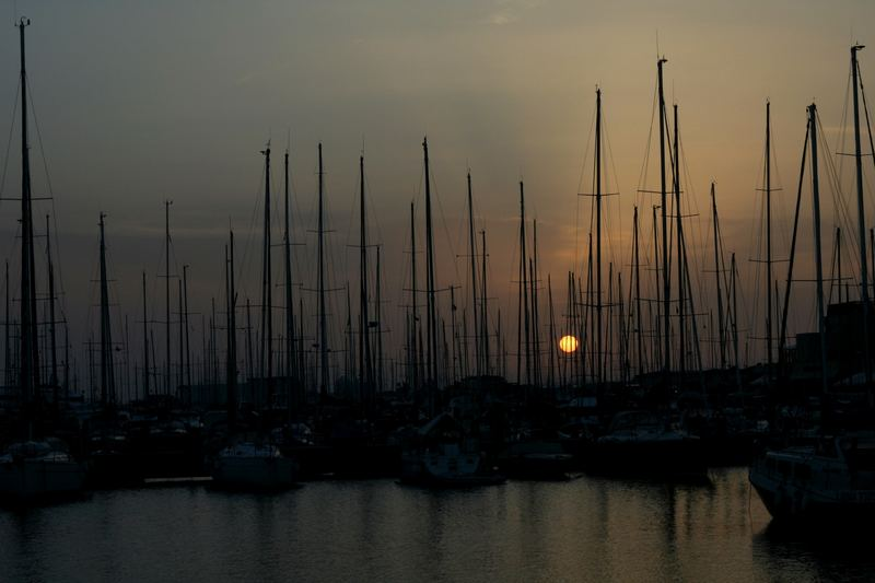 Sunset at the harbour of Rome