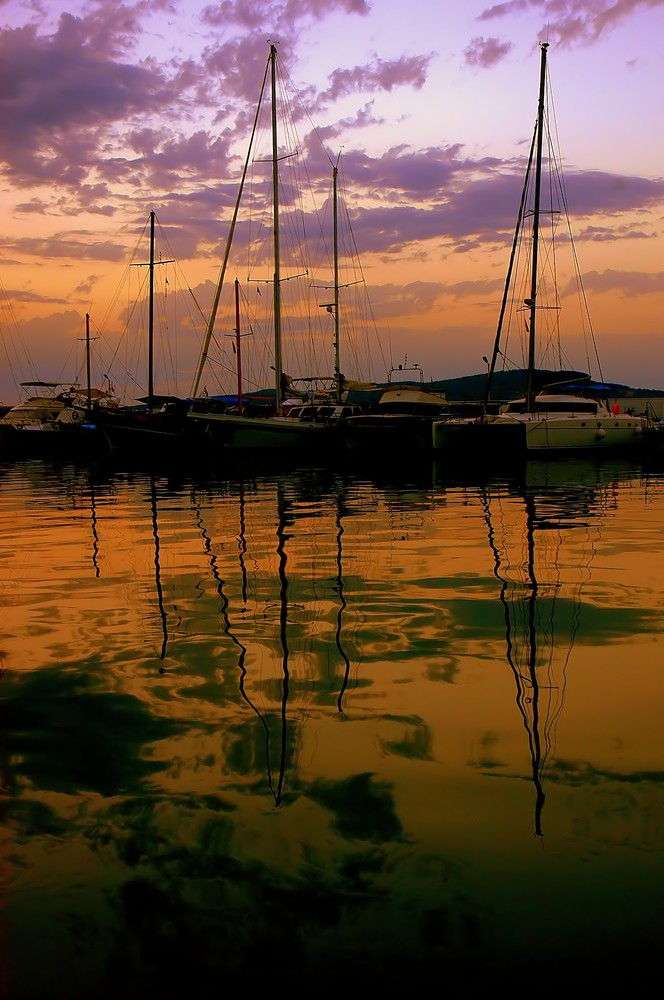 Sunset at the marina...