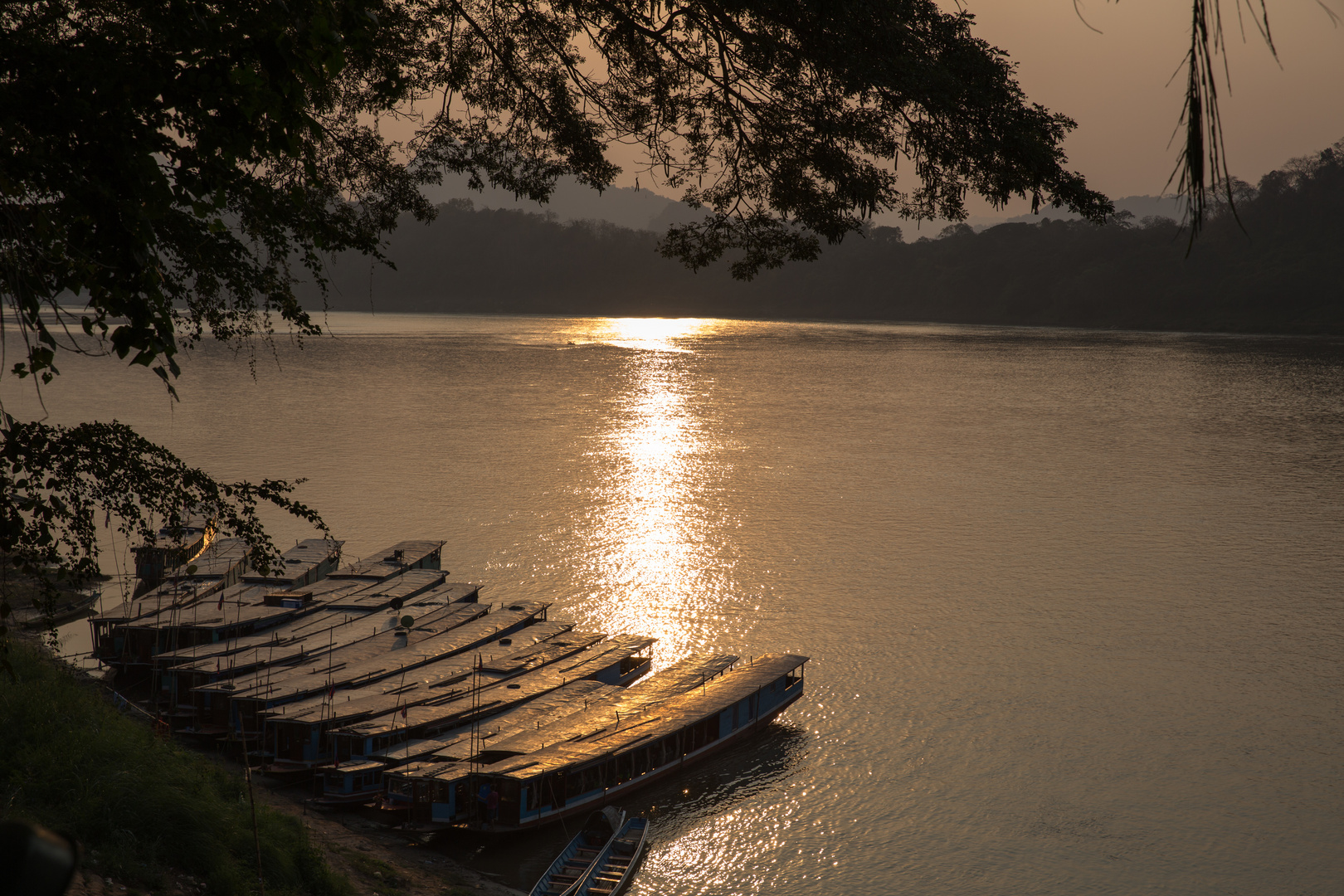 Sunset at the River Mekong 2