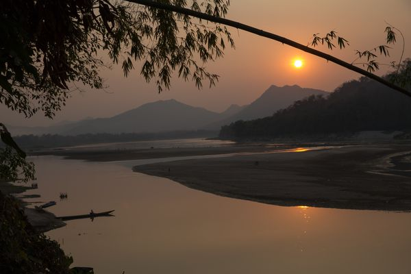 Sunset at the River Mekong