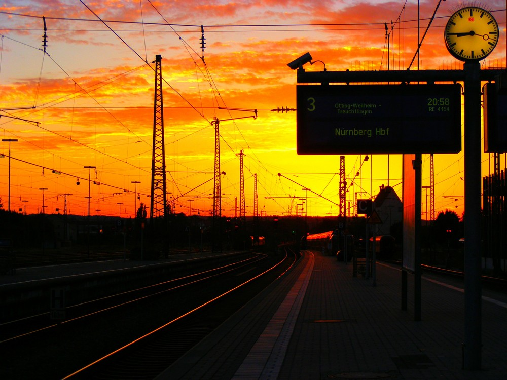 sunset at the station...