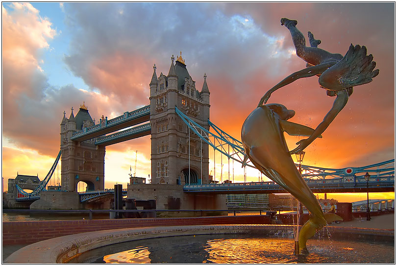 Sunset at the Tower-Bridge