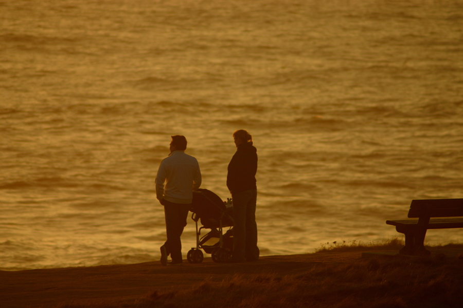 Sunset at Treyarnon Bay