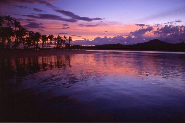 sunset auf Fidschi