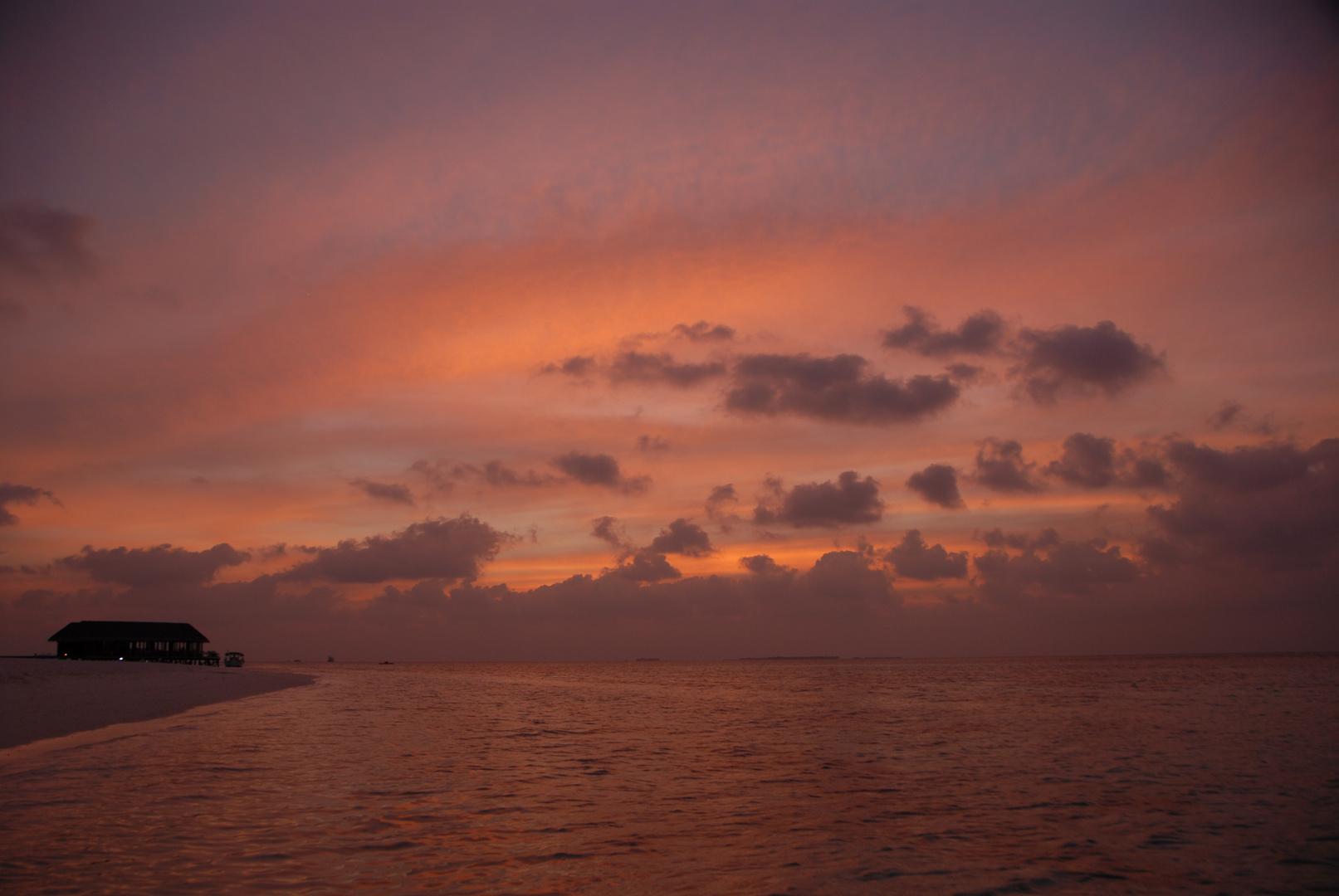 Sunset auf Mirihi