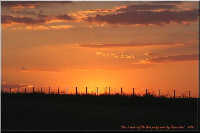 Sunset behind of The Fens... 2006