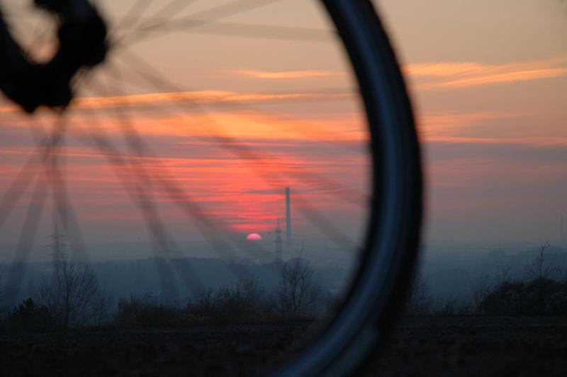 sunset + biking
