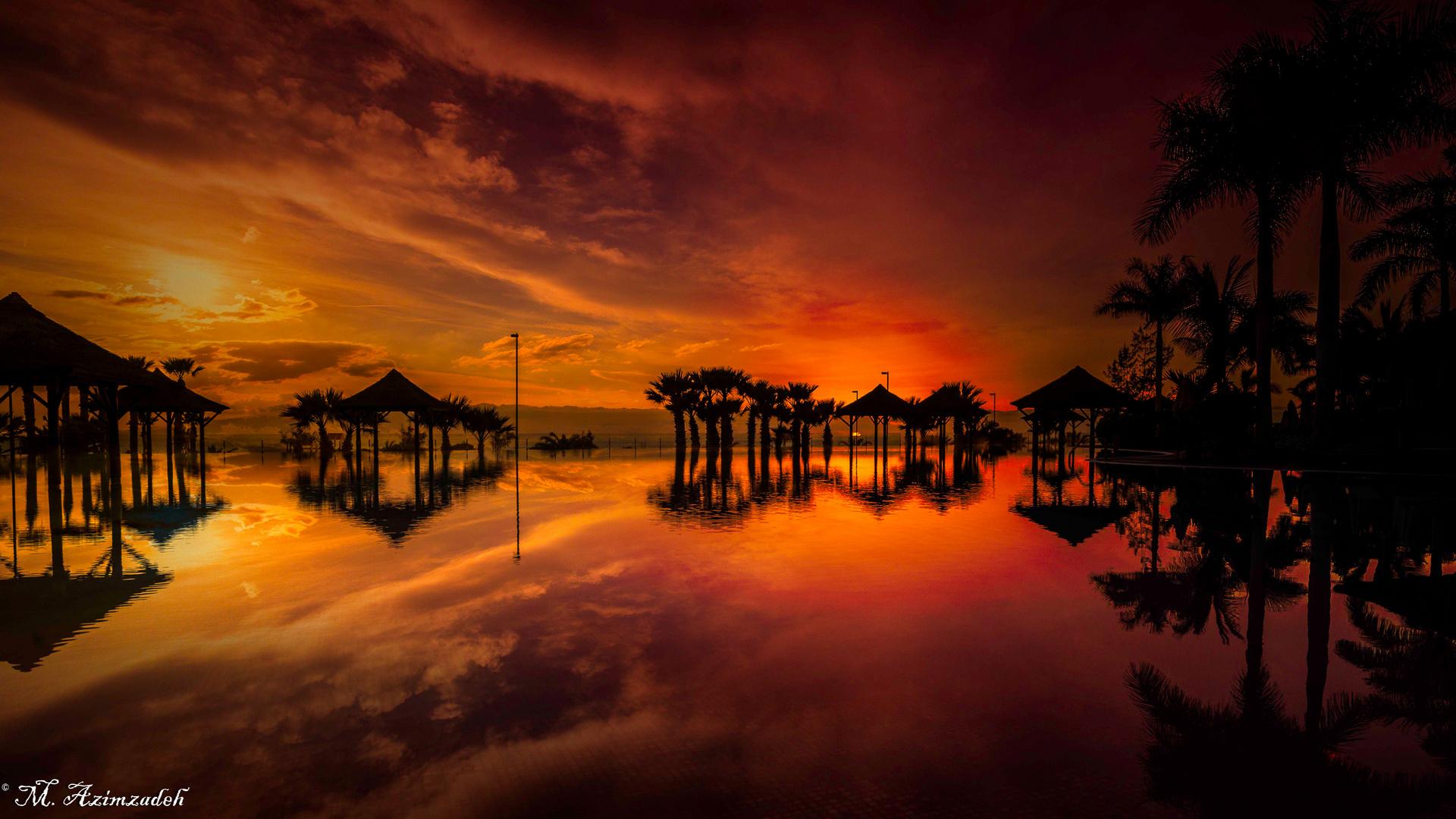 Sunset by Teneriffa Island