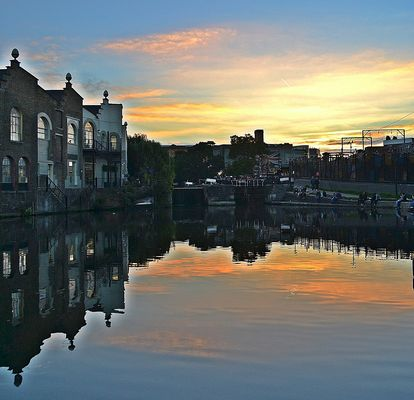 sunset @Camden market