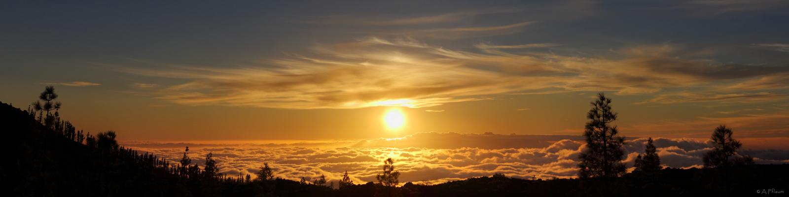 .Sunset Canary Island.