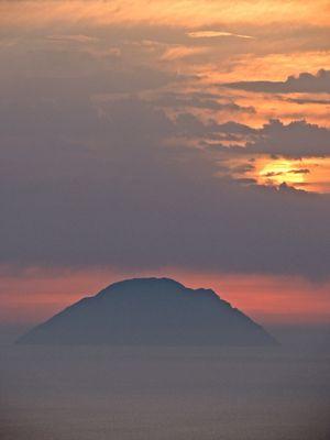 Sunset: colori nella nebbia