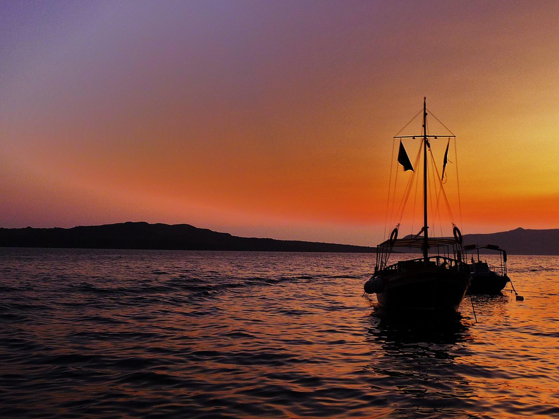 sunset desde el mar