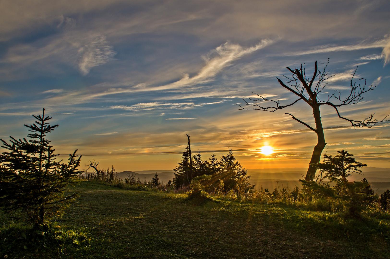 Sunset Fichtelberg