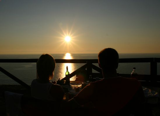 sunset for two