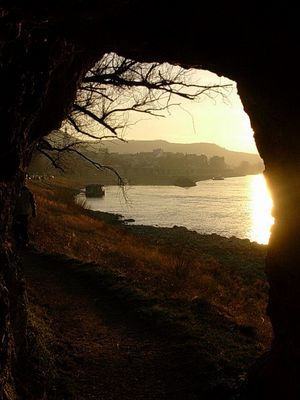 sunset from the cave