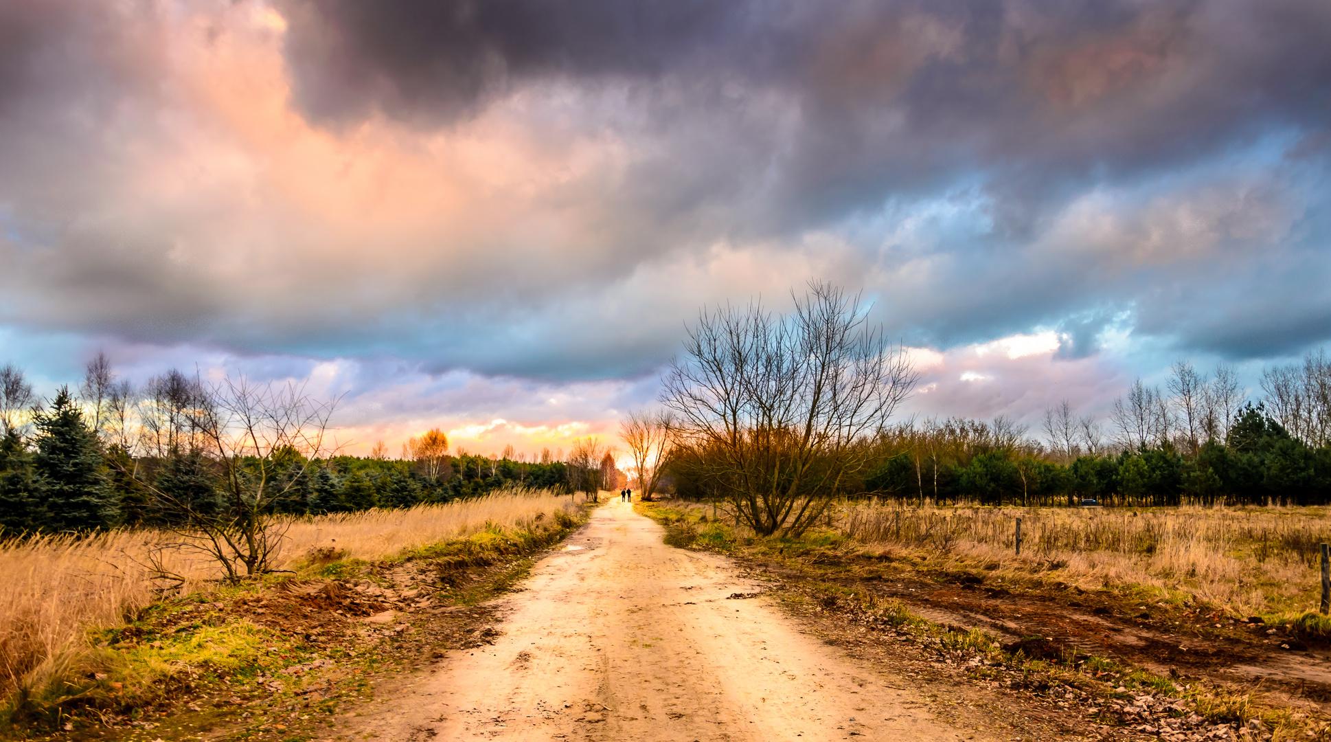 Sunset Hobrechtsfelde