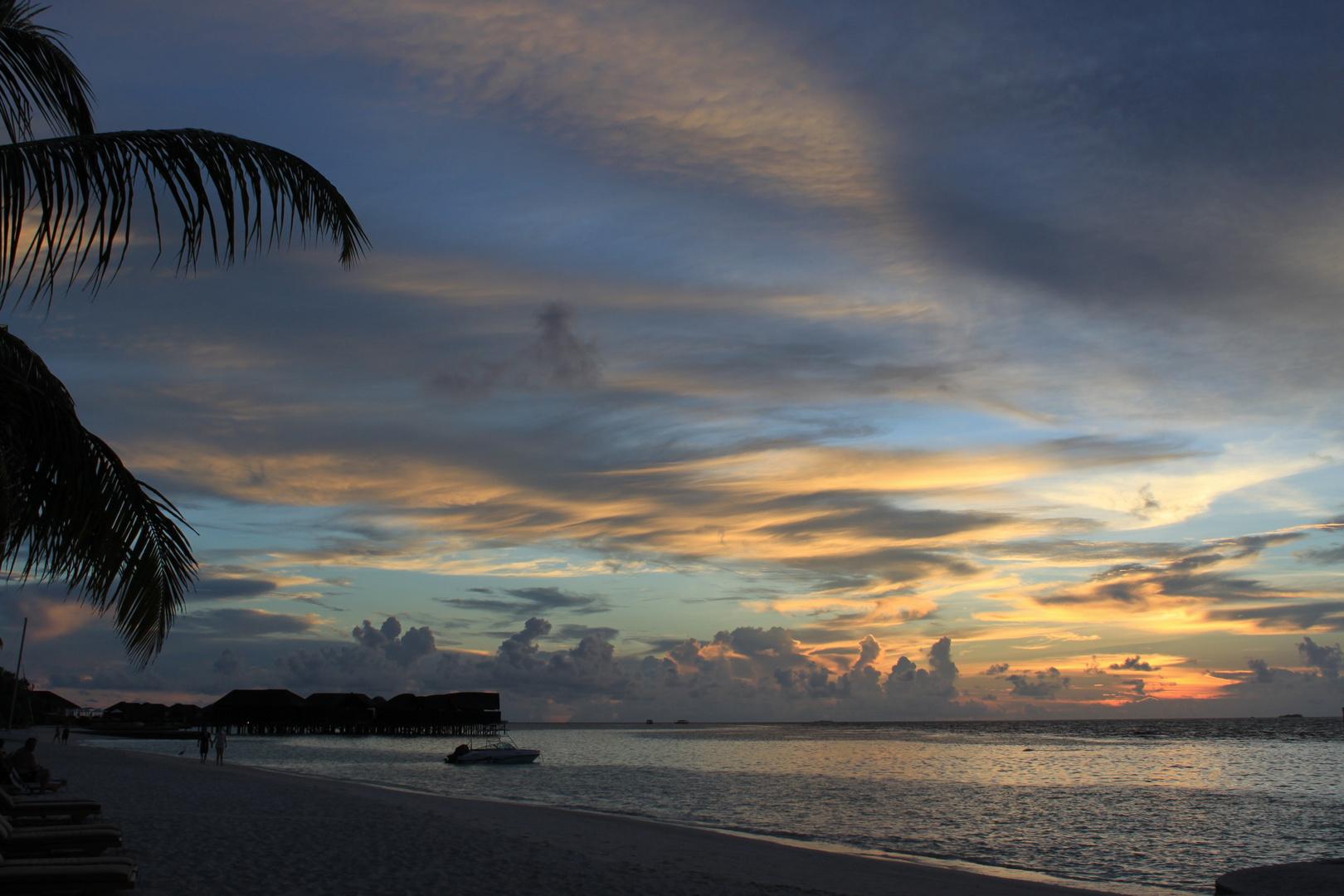 Sunset im Indischen Ozean