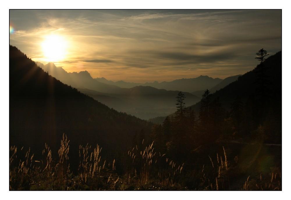 Sunset im Karwendelgebirge