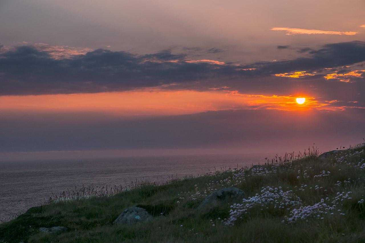 Sunset im Südwesten Englands