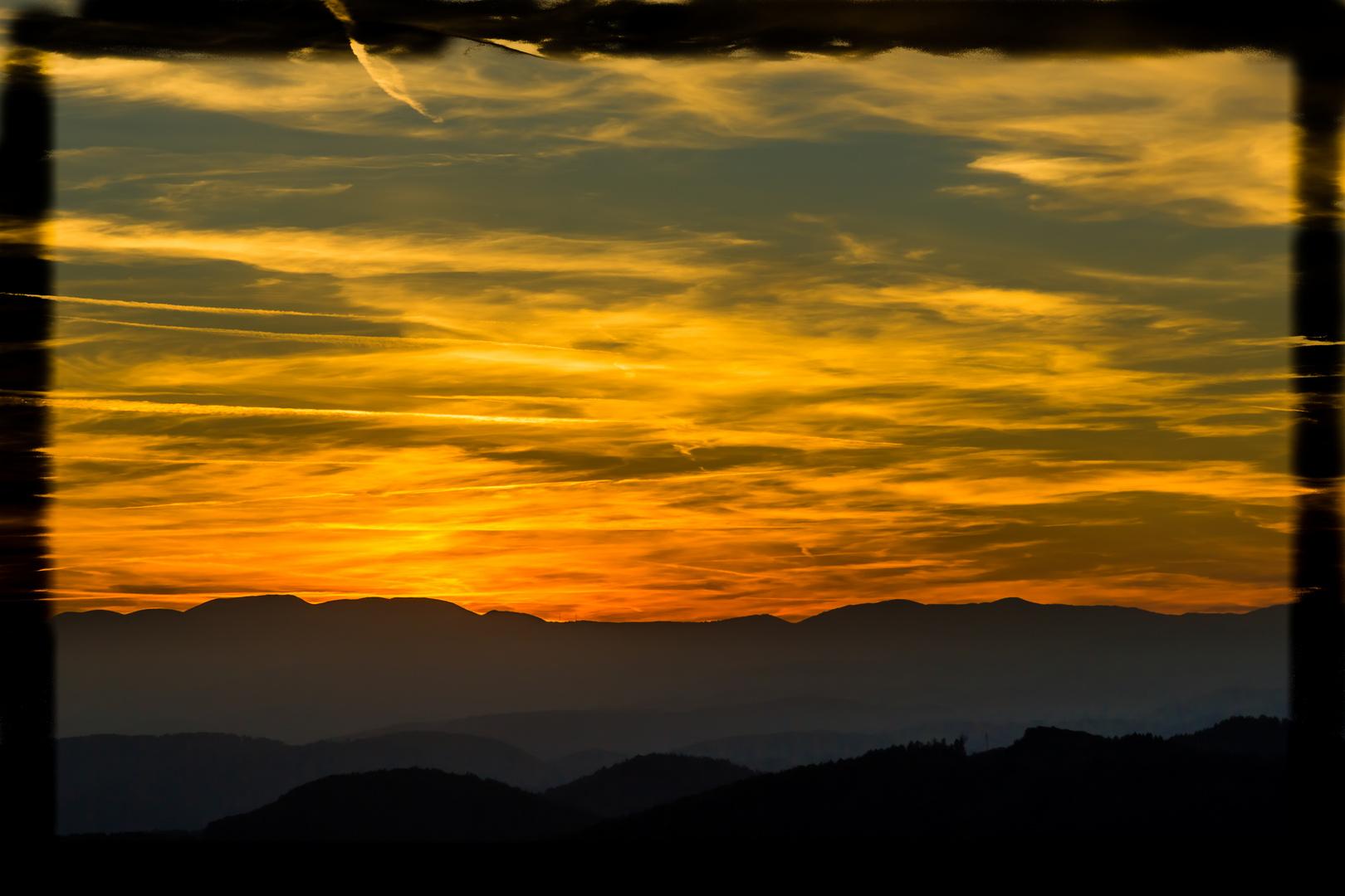 Sunset im weststeirischen Hügelland