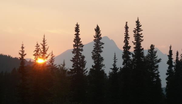 Sunset in Banff