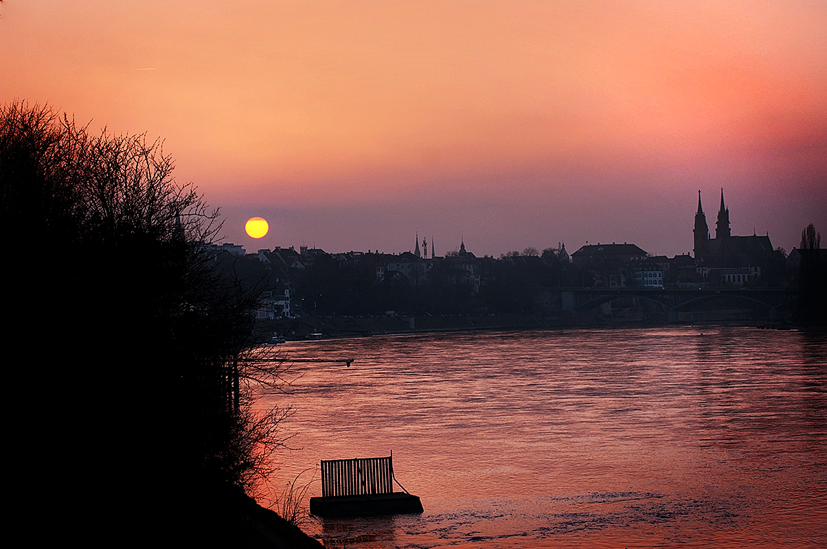 Sunset in Basel