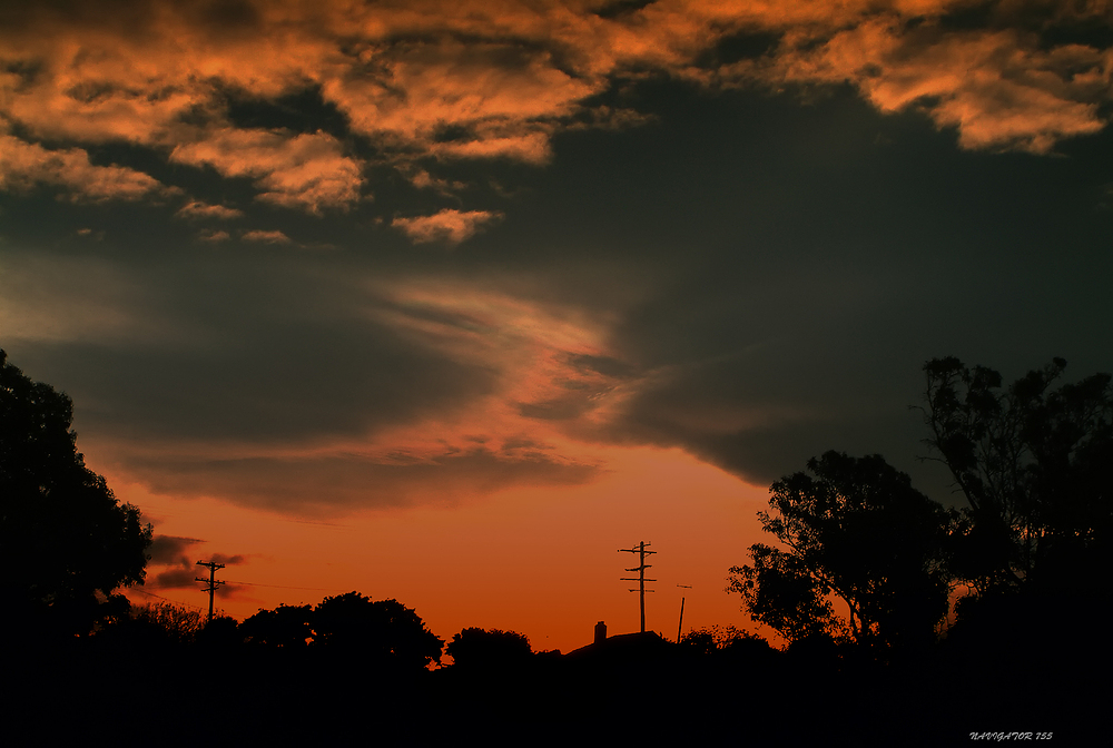 Sunset in Brighton near Dunedin / Otago / NZ