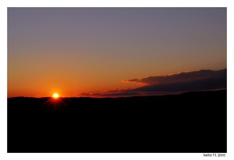sunset in Brno in Czech Republic