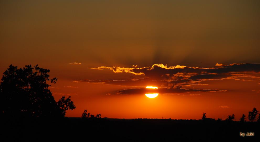 Sunset in Burgstädt