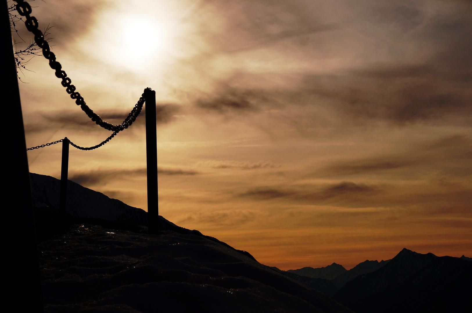 sunset in den Bergen